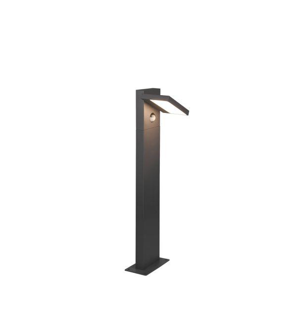 Stalp Exterior LED Horton, 526369142, Antracit, LED 8W, Lumina Calda, 1000lm