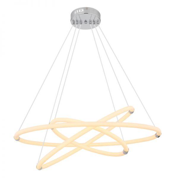 Pendul Epi Globo, 65001H2, Crom, LED 65W, Lumina Calda, 4550lm
