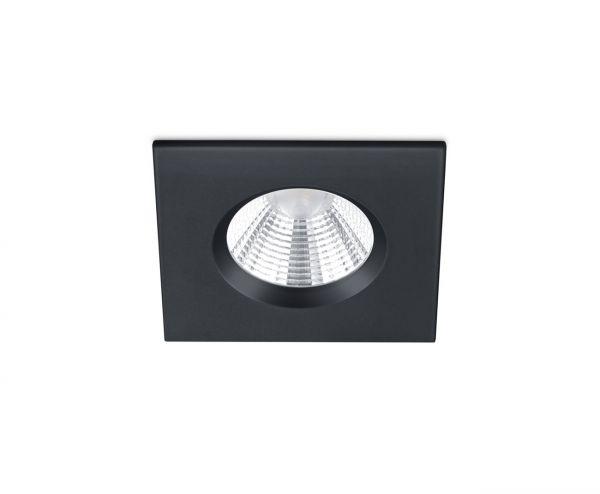 Spot Incastrat LED Zagros, 650610132, Negru, LED 5W, Lumina Calda, 345lm