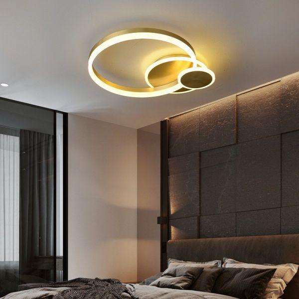 Plafoniera LED LEDO Light, LXT2232, Auriu, LED 120W, Lumina Variabila, 6000 lm
