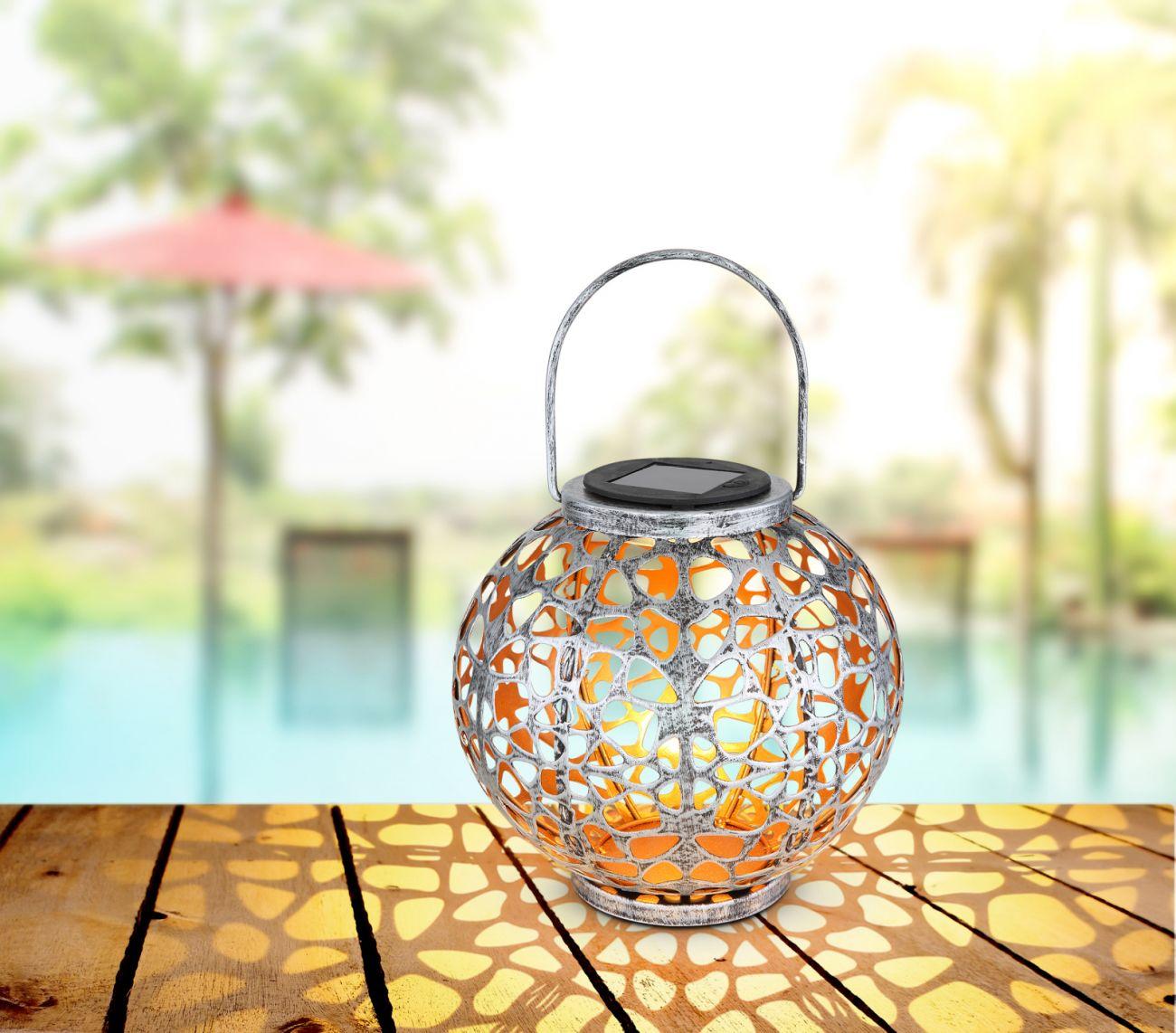 Lampa solara Globo, 36740, Argintiu, LED 0,06W