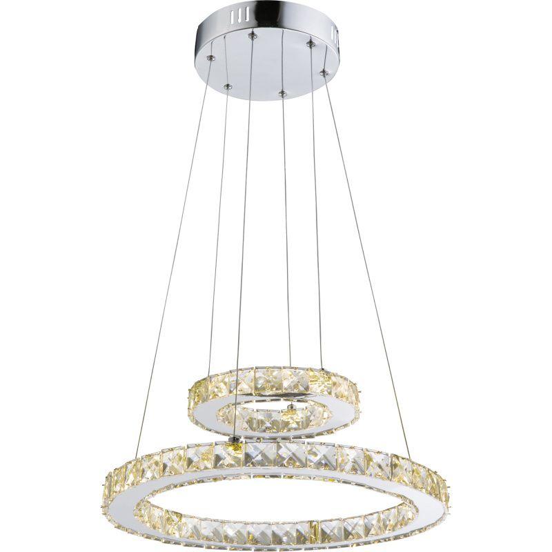 Pendul Marilyn I Globo, 67037-24A, Crom, LED 24W, Lumina Neutra, 1570lm