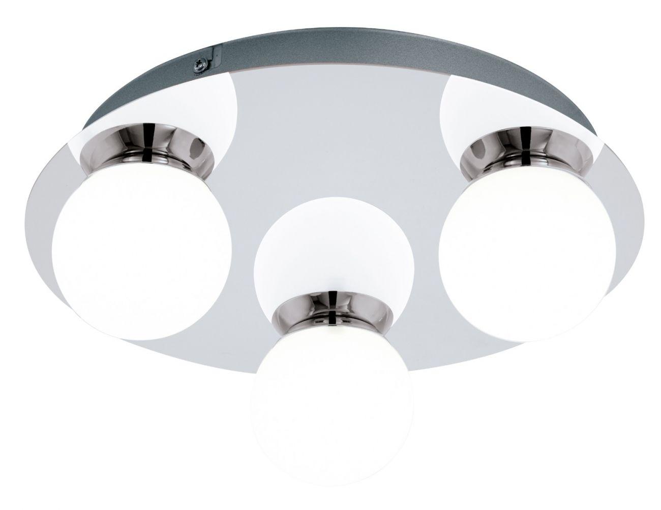 Plafoniera Mosiano Eglo, 94629, crom, LED 3x3.3W, Lumina Calda, 340lm