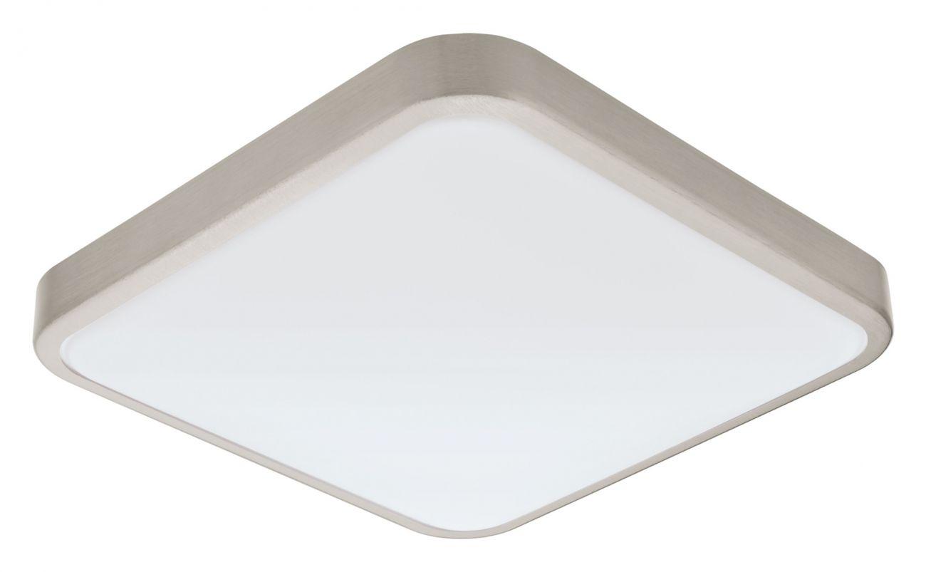 Plafoniera Manilva Eglo, 96231, nichel satinat, LED 16W, Lumina Calda, 1500lm