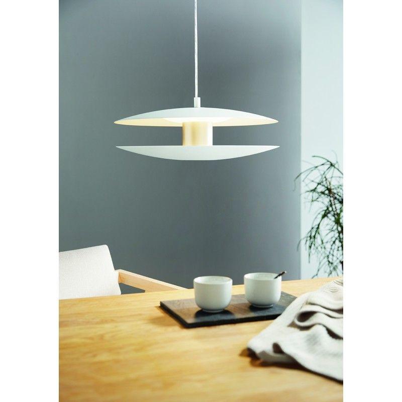 Lustra Trappeto Eglo, 97669, Alb, LED 18W, Lumina Calda, 1860lm