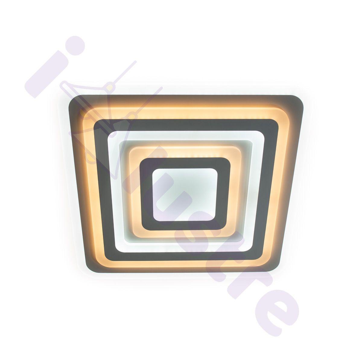 Plafoniera LED LEDO Light, Alb, LED 176W, Lumina Variabila, Dimabila, 10400 lm
