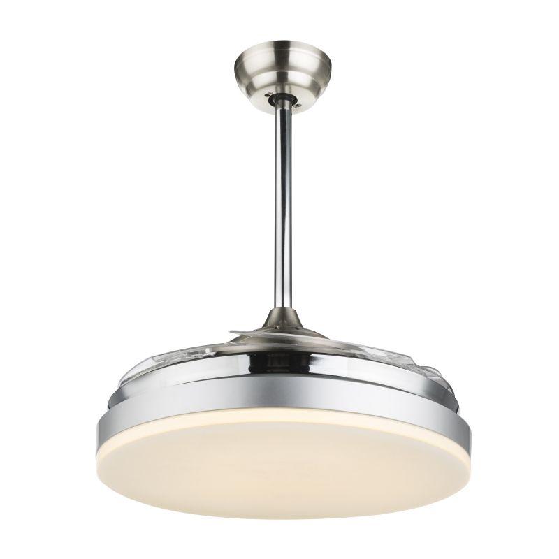 Ventilator Cabrera Globo, 0350, crom, LED 36W, Lumina Calda, 2180lm