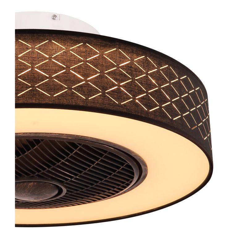 Ventilator Rosario Globo, 03621, negru, LED 28W, Lumina Calda, 1400lm