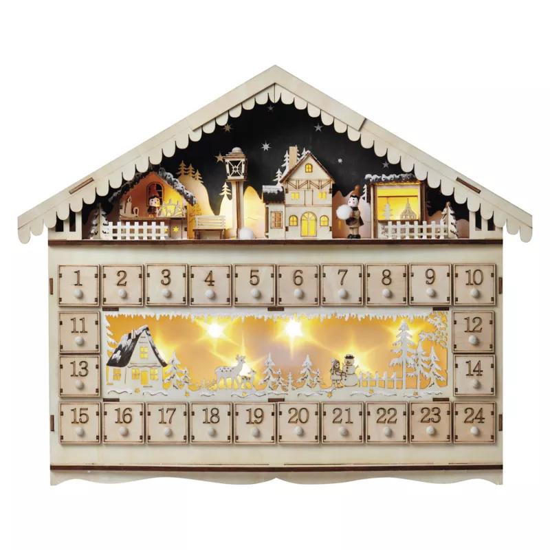 Decoratiune Craciun Casuta Calendar Emos, 2315, 10 LED, 0.4W, Lumina Calda